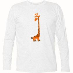 Футболка з довгим рукавом Жираф