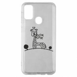 Чехол для Samsung M30s жираф