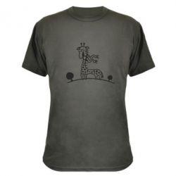 Камуфляжная футболка жираф