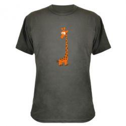 Камуфляжна футболка Жираф