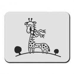 Коврик для мыши жираф - FatLine