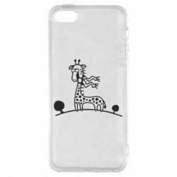 Чехол для iPhone5/5S/SE жираф - FatLine