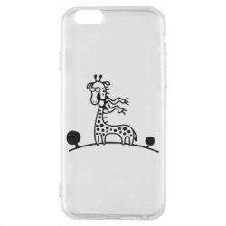 Чехол для iPhone 6/6S жираф - FatLine