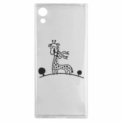Чехол для Sony Xperia XA1 жираф - FatLine
