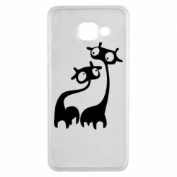 Чехол для Samsung A3 2016 Жирафы