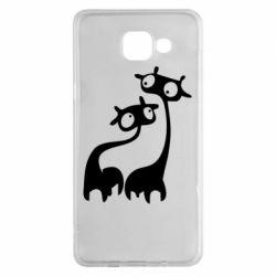 Чехол для Samsung A5 2016 Жирафы