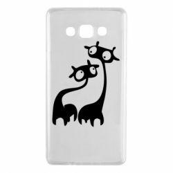 Чехол для Samsung A7 2015 Жирафы