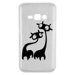 Чехол для Samsung J1 2016 Жирафы