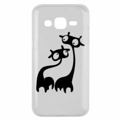 Чехол для Samsung J2 2015 Жирафы