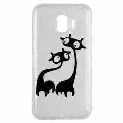 Чехол для Samsung J2 2018 Жирафы