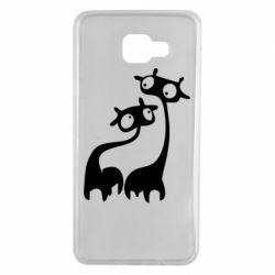 Чехол для Samsung A7 2016 Жирафы