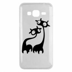 Чехол для Samsung J3 2016 Жирафы