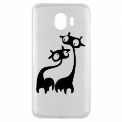 Чехол для Samsung J4 Жирафы