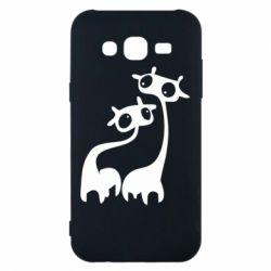 Чехол для Samsung J5 2015 Жирафы