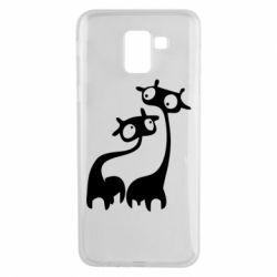 Чехол для Samsung J6 Жирафы