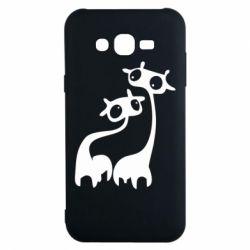 Чехол для Samsung J7 2015 Жирафы