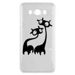 Чехол для Samsung J7 2016 Жирафы