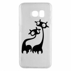 Чехол для Samsung S6 EDGE Жирафы