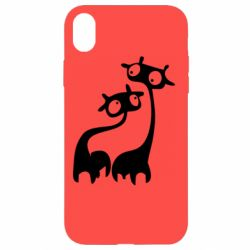 Чехол для iPhone XR Жирафы