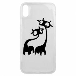 Чехол для iPhone Xs Max Жирафы