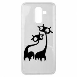 Чехол для Samsung J8 2018 Жирафы