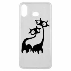 Чехол для Samsung A6s Жирафы