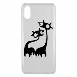 Чехол для Xiaomi Mi8 Pro Жирафы