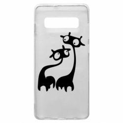 Чехол для Samsung S10+ Жирафы