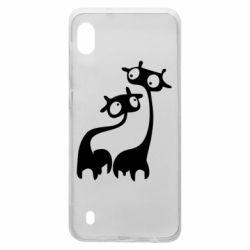 Чехол для Samsung A10 Жирафы