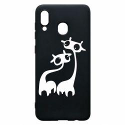 Чехол для Samsung A20 Жирафы