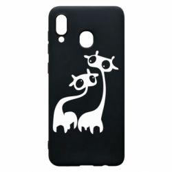 Чехол для Samsung A30 Жирафы