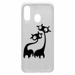 Чехол для Samsung A40 Жирафы