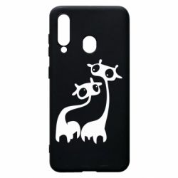 Чехол для Samsung A60 Жирафы
