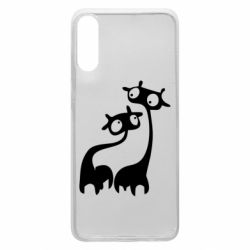 Чехол для Samsung A70 Жирафы