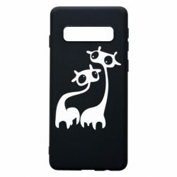 Чехол для Samsung S10 Жирафы