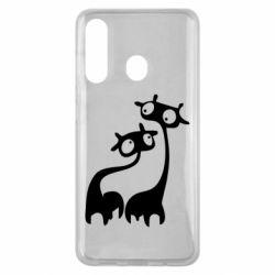 Чехол для Samsung M40 Жирафы