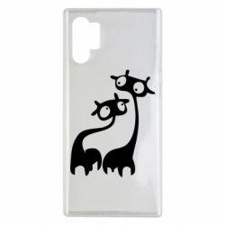 Чехол для Samsung Note 10 Plus Жирафы