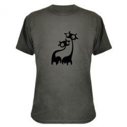 Камуфляжная футболка Жирафы