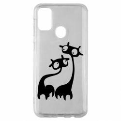 Чехол для Samsung M30s Жирафы