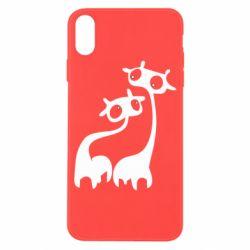 Чехол для iPhone X/Xs Жирафы