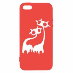 Чехол для iPhone5/5S/SE Жирафы