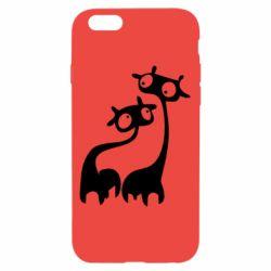 Чехол для iPhone 6/6S Жирафы