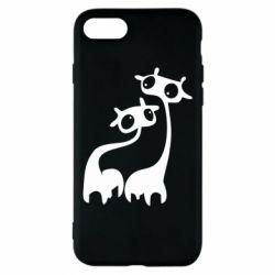 Чехол для iPhone 7 Жирафы