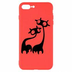 Чехол для iPhone 7 Plus Жирафы