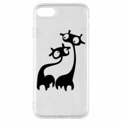 Чехол для iPhone 8 Жирафы