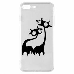 Чехол для iPhone 8 Plus Жирафы