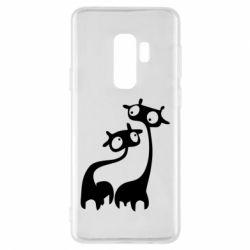 Чехол для Samsung S9+ Жирафы