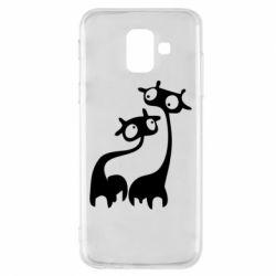 Чехол для Samsung A6 2018 Жирафы