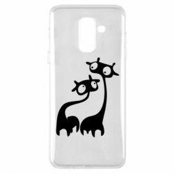 Чехол для Samsung A6+ 2018 Жирафы