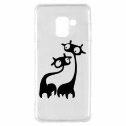 Чехол для Samsung A8 2018 Жирафы
